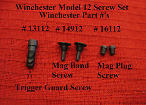 Winchester Model 12 Screw Set of 5:- Win Part # 14912 ...