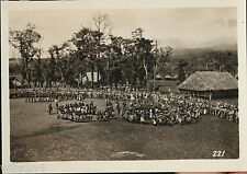 Photo New Britain New Guinea natives in choral groups US 40th Division US Army