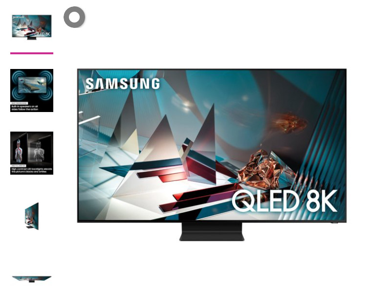 """SAMSUNG 82"""" Class 8K Ultra HD (4320P) HDR Smart QLED TV QN82Q800T 2020. Available Now for 1200.00"""