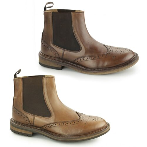 Catesby Shoemakers HAFTHOR Mens Goodyear Welted Chelsea Boots Brown