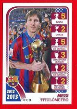 FC BARCELONA 2012-2013 Panini - Figurina-Sticker n. 174 - MESSI TITULOMETRO -New