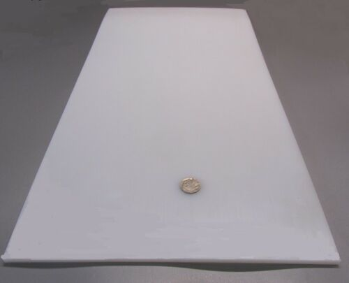 "Thick x 12/"" x 24/"" 1//4/"" Tivar UHMW PE White Sheet .250/"""
