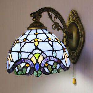 Image Is Loading Handcrafted Wall Lamp Victorian Style Stained Gl