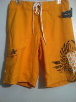Men's Billabong Board Shorts Rn99064 Yellow 31 Surf Swim Polyester Flat