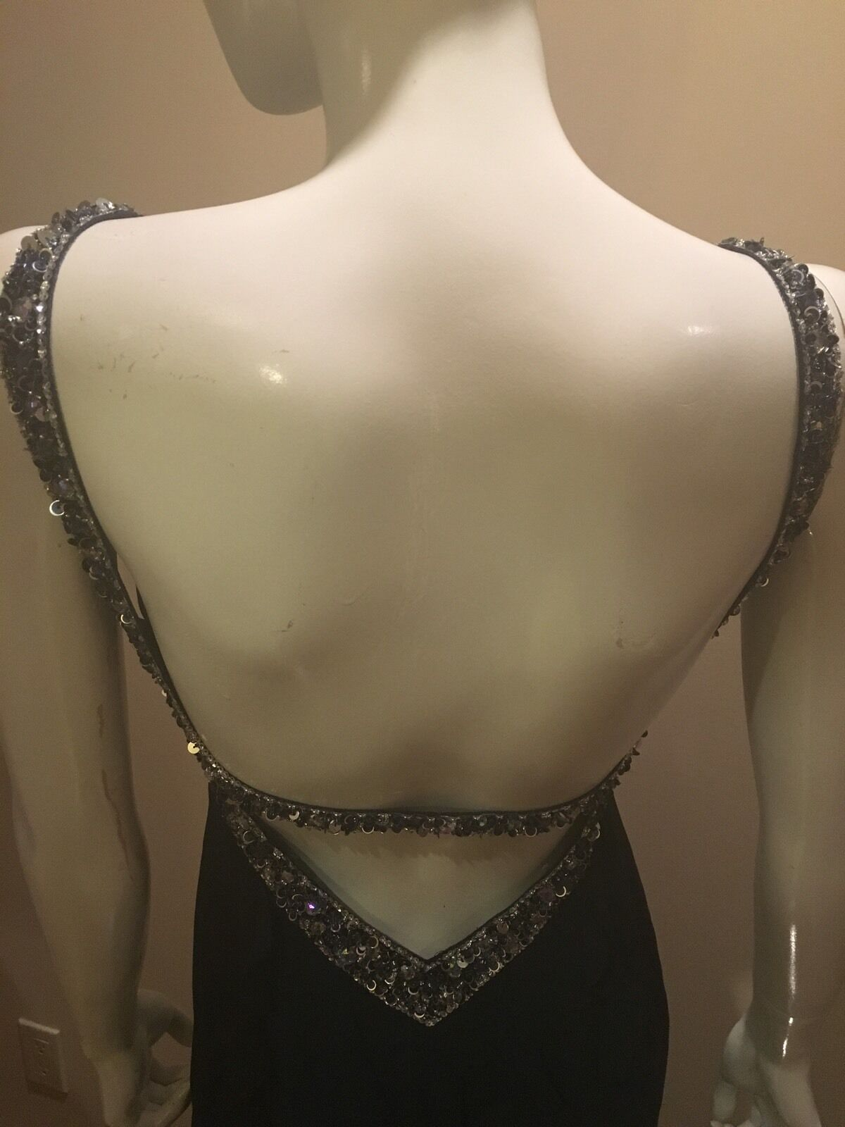 Faviana Couture Couture Couture Beaded Halter Gown Dress Navy Sz 4 NEW eabfb4