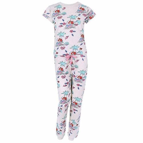 Primark Disney The Little Mermaid Beige T-Shirt /& Long Bottoms Pyjama Set Ladies