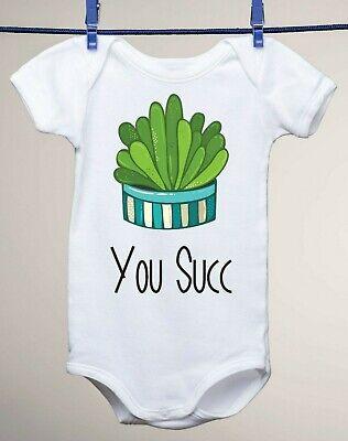 You Succ Succulent Plant Shirt Baby Gerber Onesie Funny Newborn Gift