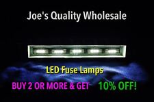 (6)WHITE LED 8V FUSE LAMPS 29MM/7070-8080-9090 6060-5050/QRX 5500-6500-7500/QR