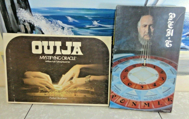 Vintage Lot (2) Mystical Board Games OUIJA & PEN-G 100% Complete RARE