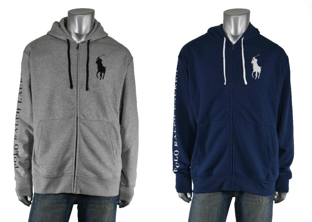 Ralph Lauren Polo Großes Pony Logo Fleece Kapuzenpullover Jacke Neu