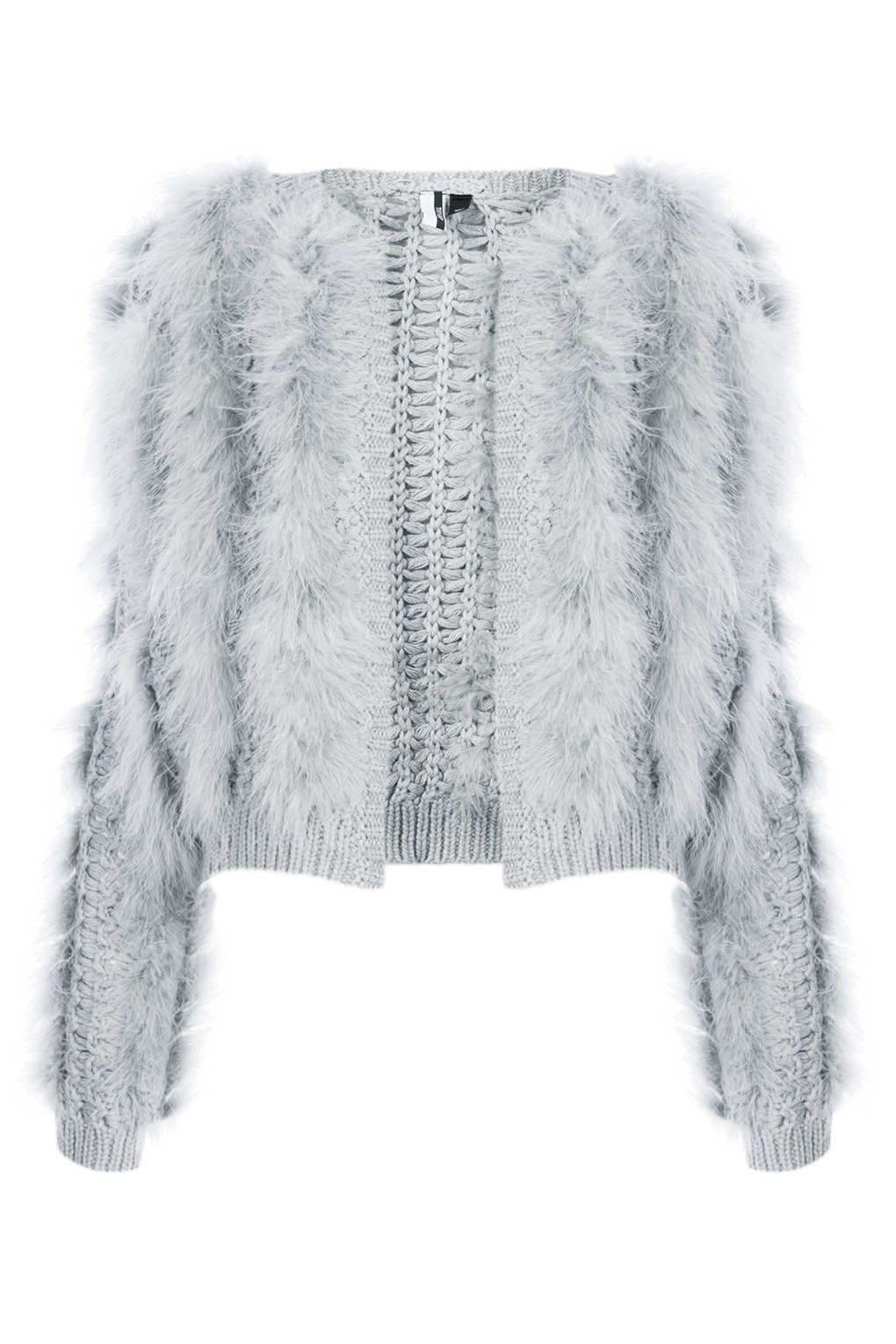 ICONIC  8 TOPSHOP GREY FEATHER CARDIGAN