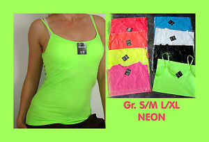 Passion-NEON-Mikrofaser-Spagetti-Traeger-TOP-Shirt-Basic-Unternemd-S-M-L-XL-Neu
