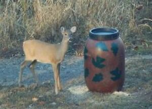 Details about Aunt Molly's Gravity Deer Feeder, Also Turkey and Hog  Feeders, leaf pattern