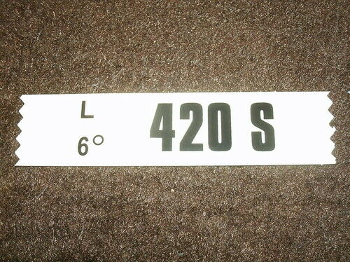 MACH 1 428CJ 4SP ENGINE DECAL 420S 1969 FORD MUSTANG