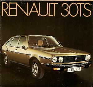 renault 30 ts 2 7 v6 1975 76 uk market launch foldout sales brochure ebay. Black Bedroom Furniture Sets. Home Design Ideas