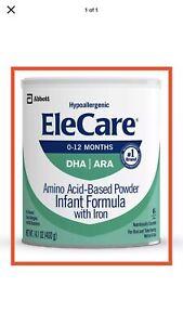 EleCare DHA/ARA Infant Formula Hypoallergenic Powder 14.1 Oz Lot of 6 Cans