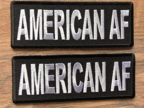 Morale novelty patch AMERICAN AF #1133 ivamis trading gift party favor novelty