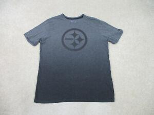 Nike Pittsburgh Steelers Shirt Adult Large Gray Black NFL Football Mens B37