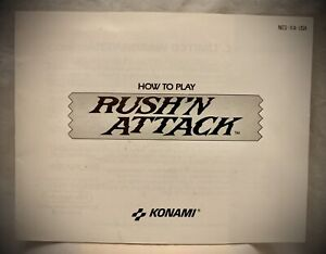 Rush'N Attack - NES Nintendo Instruction Manual Only - 1987 Konami