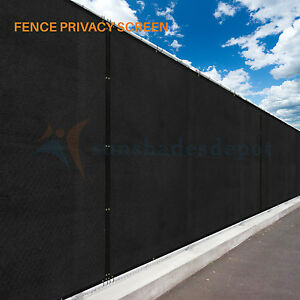 Black 4' 5' 6' 8' Commercial Fence Privacy Screen Shade Cover Fabric Mesh Garden