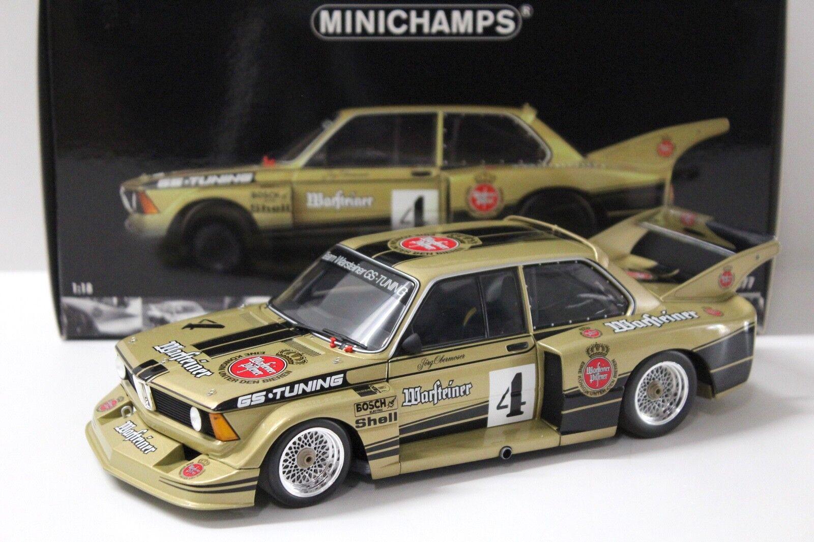 1:18 Minichamps BMW 320i superiore Moser DRM 1977 Warsteiner  4 in Premium-MODELCARS