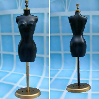 Doll Display Dress Form Clothes Mannequin Model Stand Rack Holder Chic Black