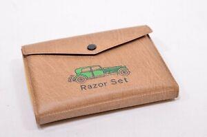 Retro-Vintage-Gillette-Safety-Razor-Set-1950s-60s-Vintage-Car-Design-Case