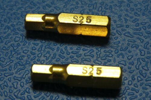 "5mm Hex Allen 25MM 1//4/"" HEX  Tin Titanium coated  QUALITY BITS S2 Steel"
