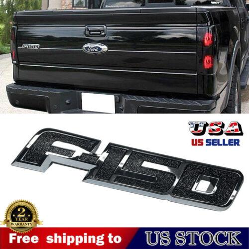 For 2009-2014 Ford F150 F-150 Chrome Black Trunk Rear Tailgate Emblem Nameplate
