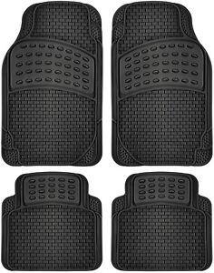 Car-Floor-Mats-For-All-Weather-Rubber-4pc-Set-Semi-Custom-Fit-Heavy-Duty-Black