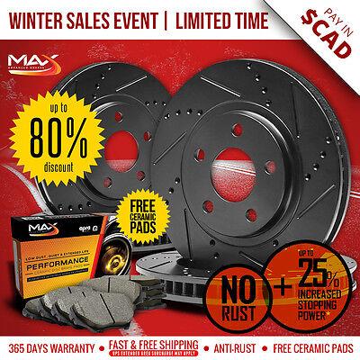 2010 2011 2012 2013 Mazda MazdaSpeed 3 Black Slot Drill Rotor Max Pads F+R