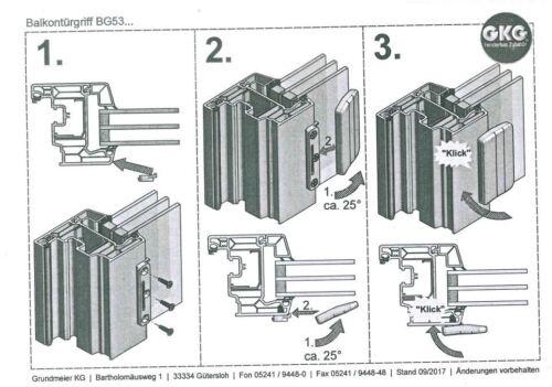 Balkontürgriff Terassentürgriff Griffmuschel BG53 Anthrazitgrau  RAL 7016