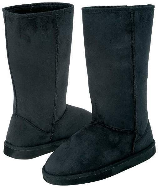 Casual Outfitter's Ladies Mid-Calf Microsuede Black Boot