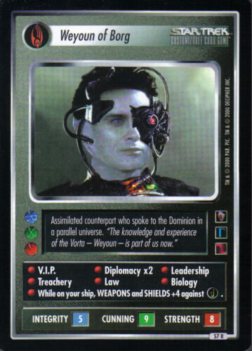 STAR TREK CCG MIRROR MIRROR RARE CARD WEYOUN OF BORG