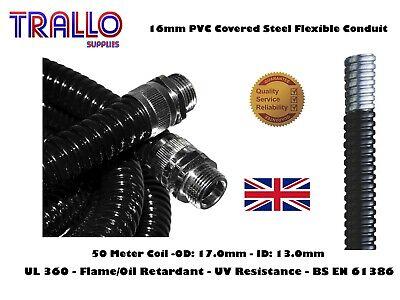 25mm Flexible Steel Conduit Kopex Waterproof Underground Cable Duct IP54 5M