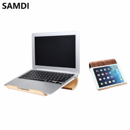 SAMDI Birch Wooden Laptop Desktop Stand Holder Bracket Dock For MacBook US stock