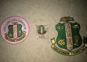 For 2 Alpha Kappa Alpha AKA Iron On Patches Brooch