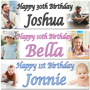 2-Personalised-Birthday-Banner-Photo-Children-Baby-Adult-Party-Poster-Decoration