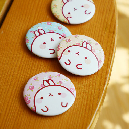 Molang 4pcs Memo Message Note Paper Whiteboard Magnetic Pin Fridge Magnet Button