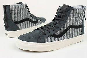 cd3024e756 VANS SK8 HI ZIP CA ITALIAN WEAVE NUBUCK VN-XH9HUG MENS SZ 6.5 SHOES ...