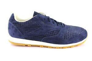 Details about Reebok Classic Leather Clean Ladies Men's Trainers Shoes V67155 Blue