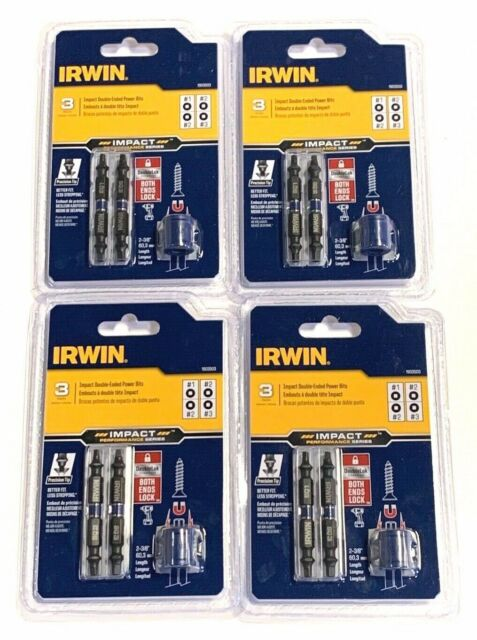 NEW Lot of 5 IRWIN 1903525 Impact Double-Ended Power Bit Performance Series