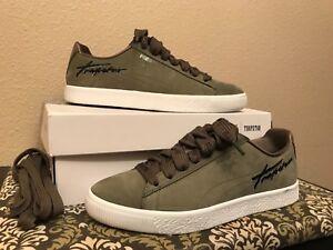 07ed69ffc2b0 362752 Puma x Trapstar Clyde Bold White Black Olive Men s Shoes