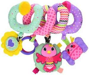 Baby Spiral Activity Toy Play Fun Hanging Cute Crib Car Seat ...