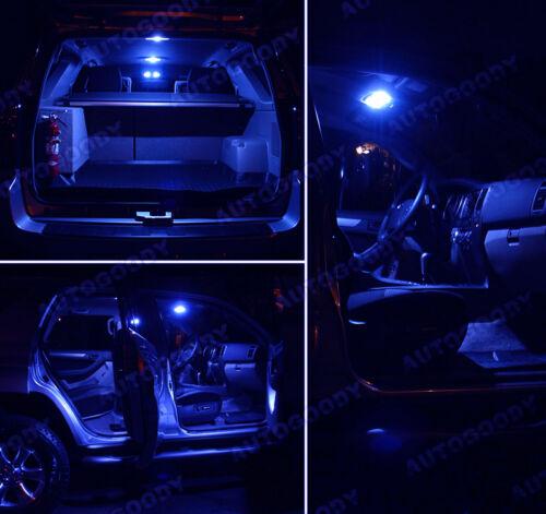 10 x Premium Blue LED Lights Interior Package Kit for Honda Accord 94-97 Tool