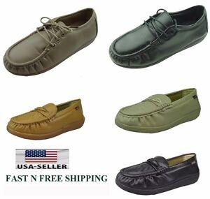 New Women Soft Comfy Non-Slip Work Shoes Slip Resistant Walking ... d83971a9f9