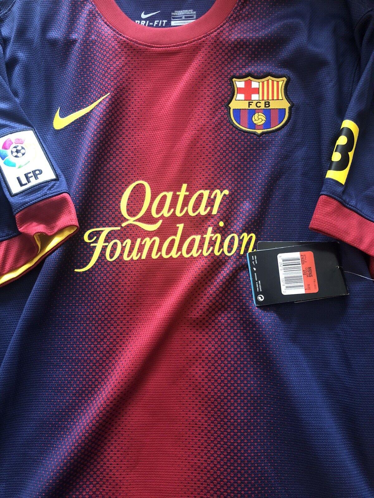 Fc Barcelona Jersey 2012 2013 Home Size L Soccer Nike Football For Sale Online Ebay