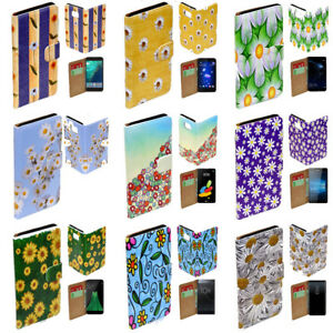 For Samsung Galaxy Series - Daisy Flower Theme Print Mobile Phone Case Cover (2)