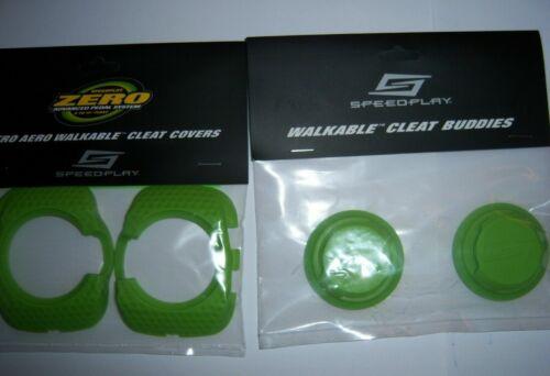 Speedplay Zero Aero Walkable Cleat Covers Buddies Set Green