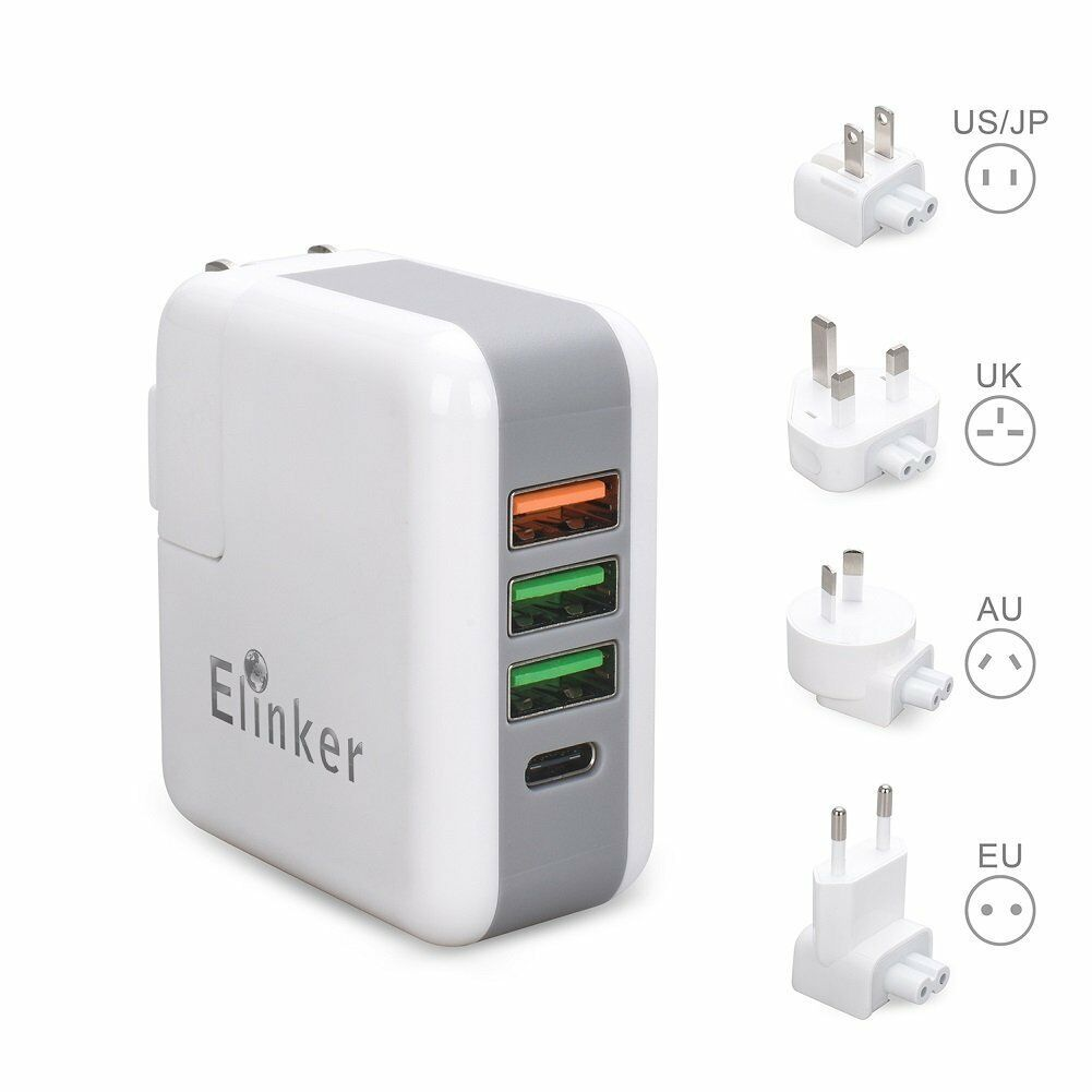 4 Port USB World Travel Adapter
